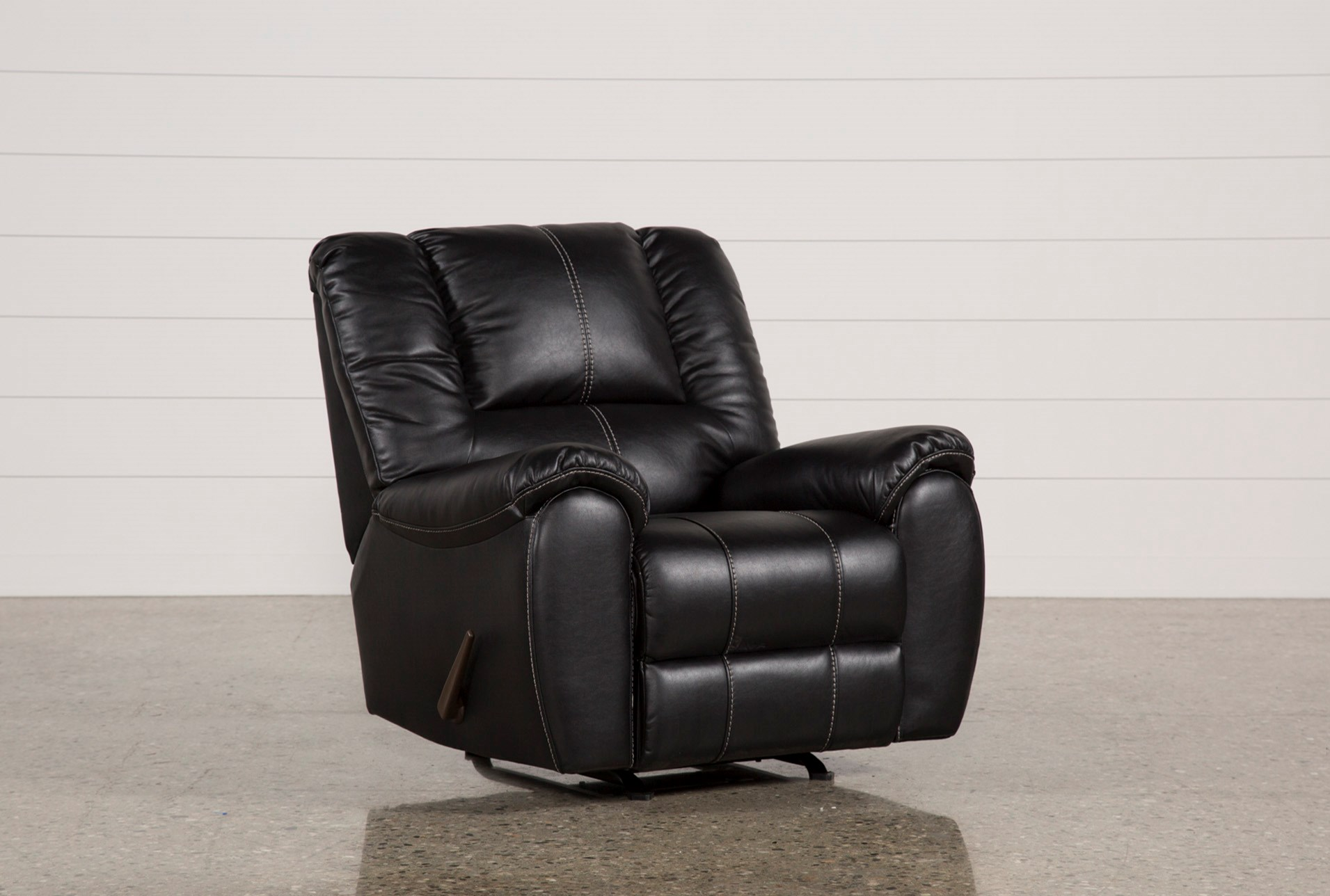 Spiro Black Rocker Recliner Living Spaces