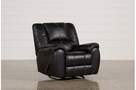 Spiro Black Rocker Recliner