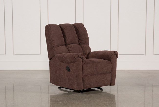 Sloan Chocolate Rocker Recliner - 360