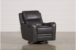 Scorpio Dark Grey Swivel Glider Recliner