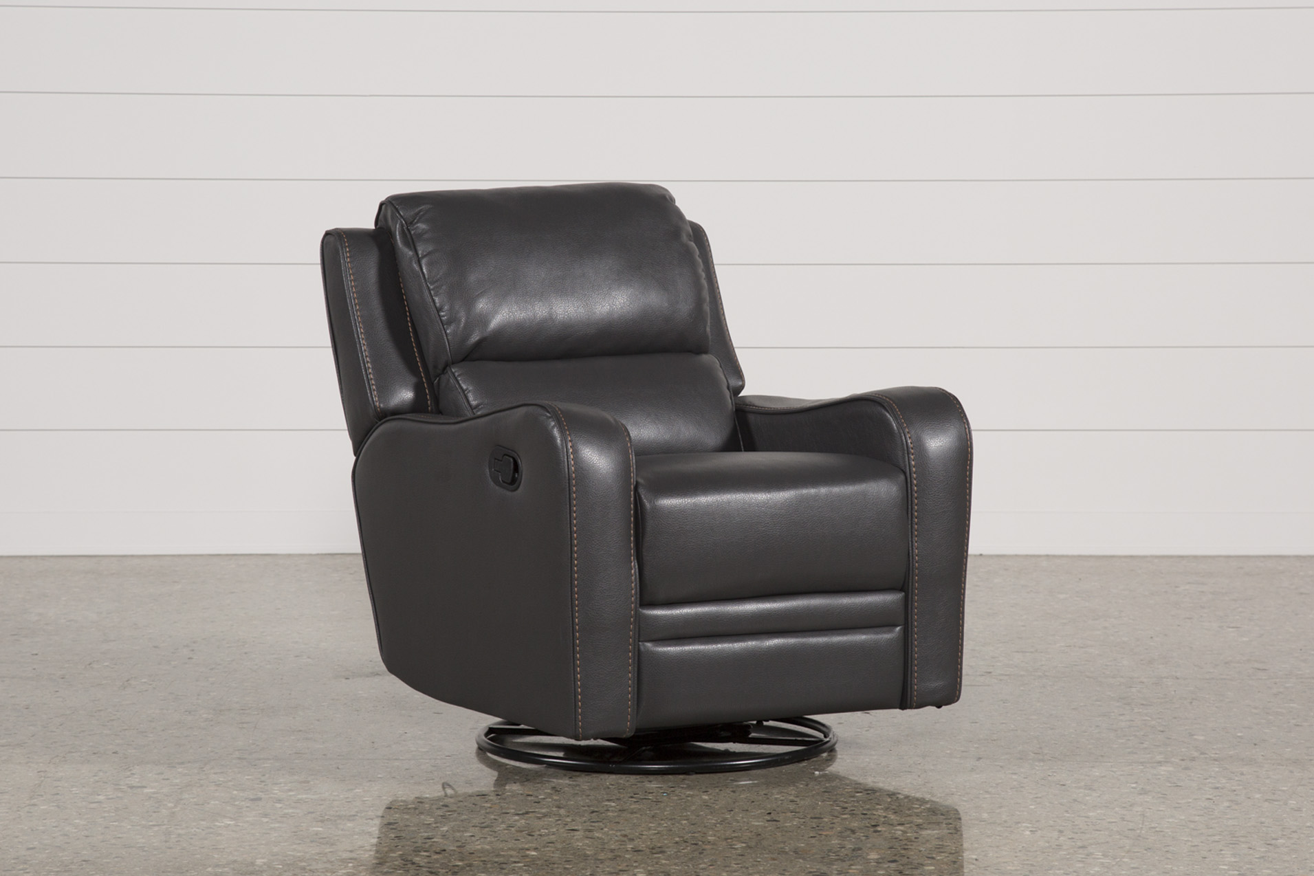 Scorpio Dark Grey Swivel Glider Recliner (Qty: 1) Has Been Successfully  Added To Your Cart.