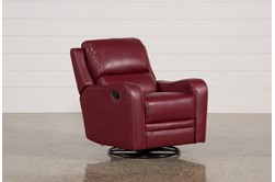 Scorpio Red Swivel Glider Recliner