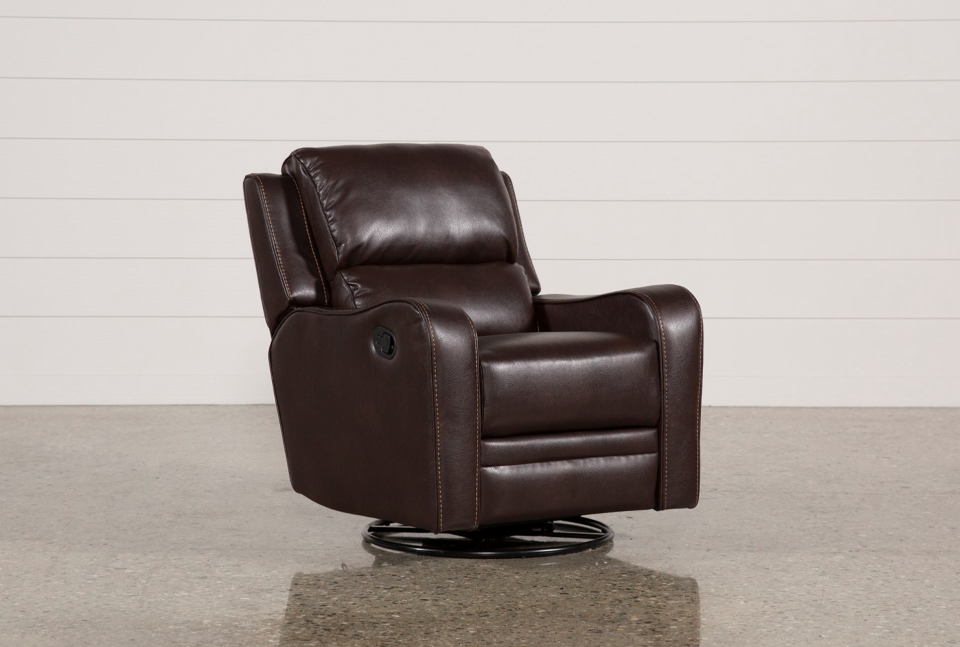 scorpio brown swivel glider recliner living spaces