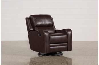 Scorpio Brown Swivel Glider Recliner