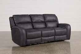 Deegan Charcoal Power Reclining Sofa
