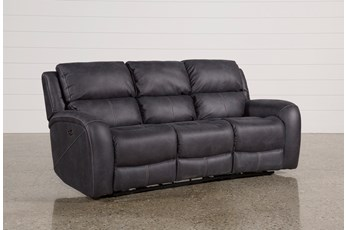 "Deegan Charcoal 88"" Power Reclining Sofa"