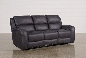 "Deegan Charcoal 88"" Power Reclining Sofa"