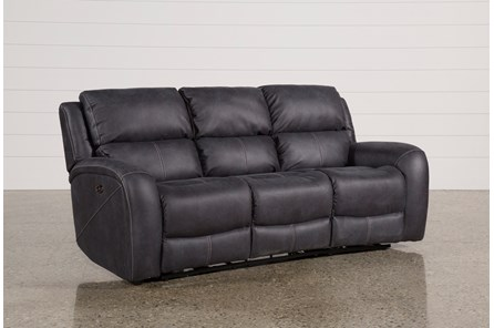Deegan Charcoal Power Reclining Sofa - Main