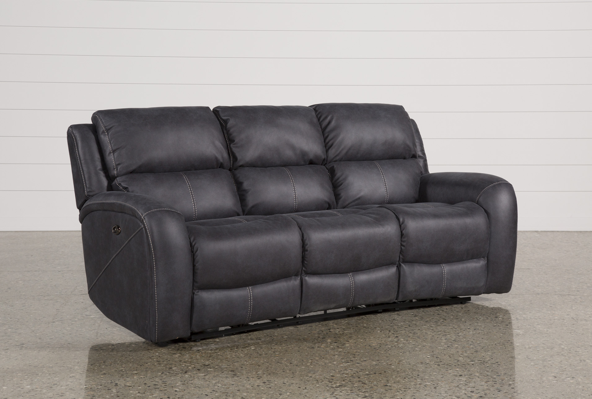 Charmant Deegan Charcoal Power Reclining Sofa