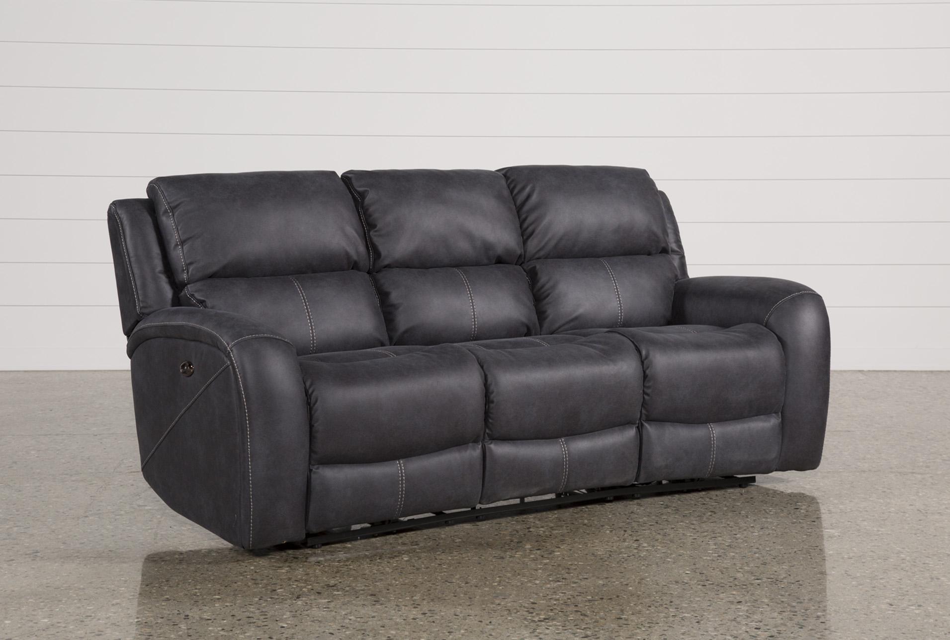 Deegan Charcoal Power Reclining Sofa   360