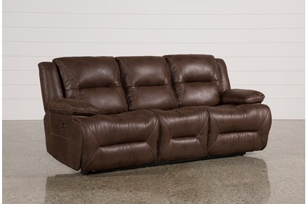 Calder Brown Power Reclining Sofa - Main