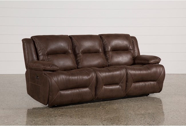 Calder Brown Reclining Sofa 360