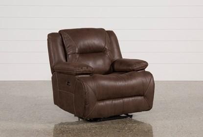 Fine Calder Brown Power Recliner Machost Co Dining Chair Design Ideas Machostcouk