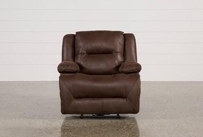 Superb Calder Brown Power Recliner Machost Co Dining Chair Design Ideas Machostcouk