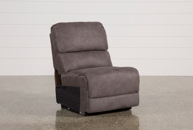 Norfolk Grey Armless Chair - 360