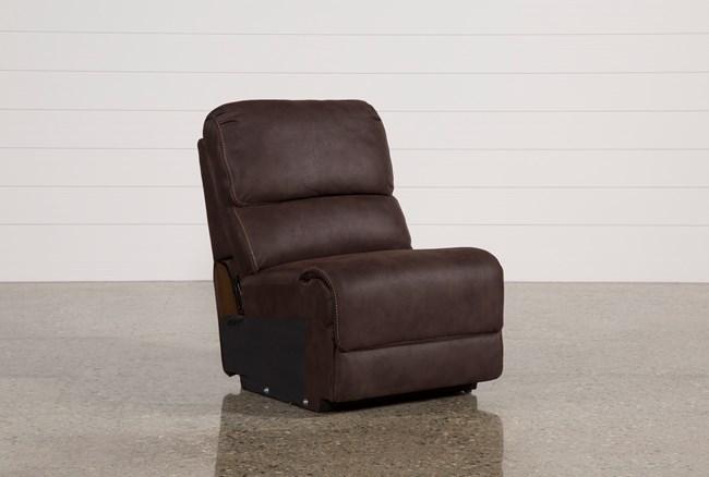 Norfolk Chocolate Armless Chair - 360