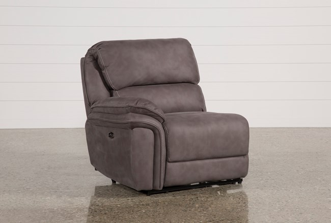 Norfolk Grey Left Facing Power Recliner - 360