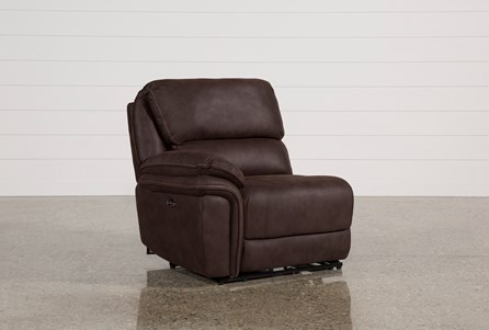 Norfolk Chocolate Left Facing Power Recliner