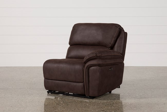 Norfolk Chocolate Right Facing Power Recliner - 360
