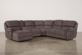Norfolk Grey 6 Piece Sectional W/Laf Chaise