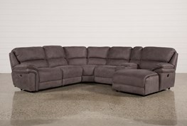 Norfolk Grey 6 Piece Sectional W/Raf Chaise