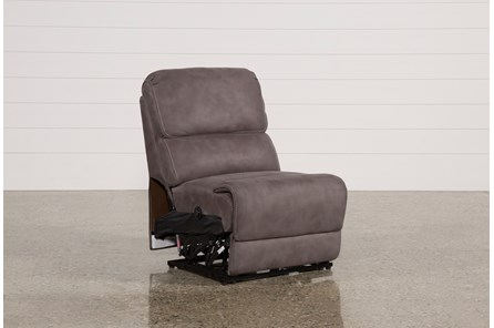 Norfolk Grey Armless Power Recliner - Main