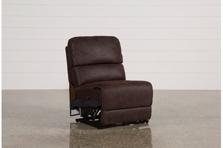 Norfolk Chocolate Armless Power Recliner - Main