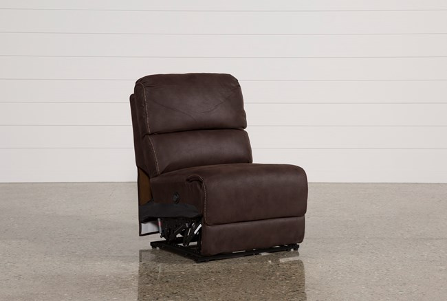Norfolk Chocolate Armless Power Recliner - 360