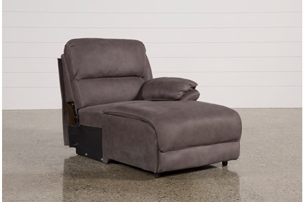 Norfolk Grey Right Facing Pushback Chaise - Main