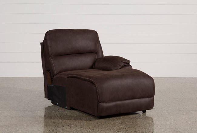Norfolk Chocolate Right Facing Pushback Chaise - 360