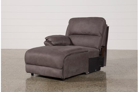 Norfolk Grey Left Facing Pushback Chaise - Main