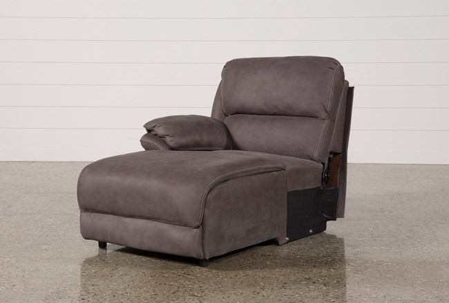 Norfolk Grey Left Facing Pushback Chaise - 360