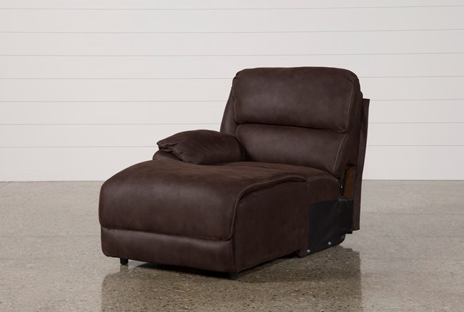 Norfolk Chocolate Laf Pushback Chaise - 360