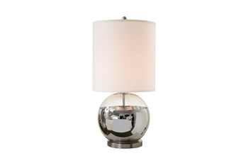 Table Lamp-Chrome Globe