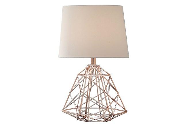 Table Lamp-Wire Web Copper - 360
