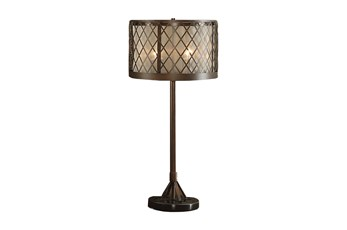 Table Lamp-Diamond Mesh Antique Bronze