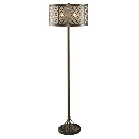 Floor Lamp-Diamond Mesh Antique Bronze