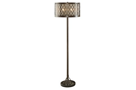 Floor Lamp-Diamond Mesh Antique Bronze - Main
