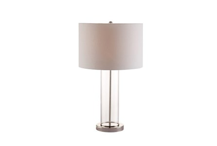 Table Lamp-Clear Column