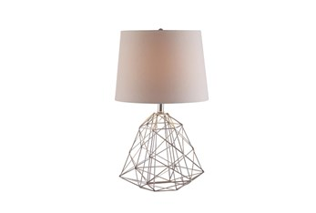 Table Lamp-Wire Web Silver