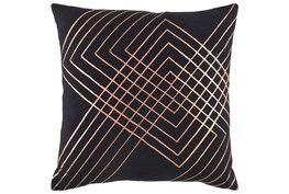 Accent Pillow-Intersecting Lines Black 20X20
