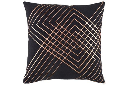 Accent Pillow-Intersecting Lines Black 20X20 - Main