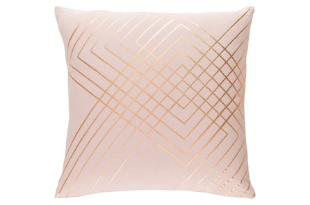 Accent Pillow-Intersecting Lines Blush 20X20 - Main