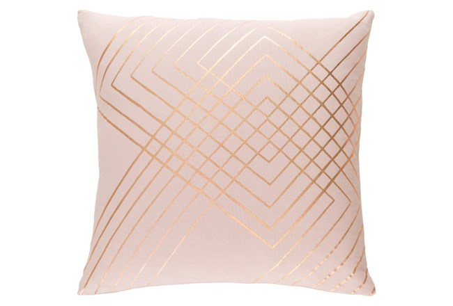 Accent Pillow-Intersecting Lines Blush 20X20 - 360