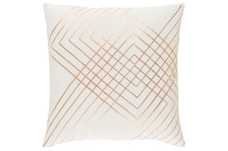Accent Pillow-Intersecting Lines Cream 20X20 - Main