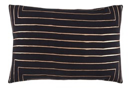 Accent Pillow-Linear Black 19X13