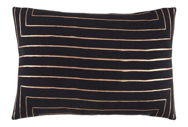 Accent Pillow-Linear Black 19X13 - 360