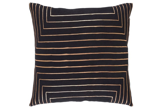 Accent Pillow-Linear Black 18X18 - 360