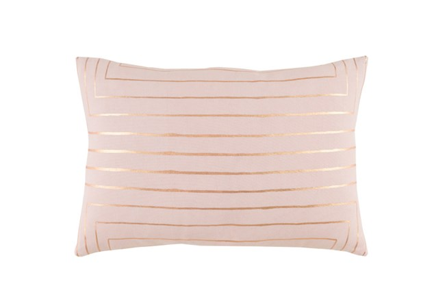 Accent Pillow-Linear Blush 19X13 - 360