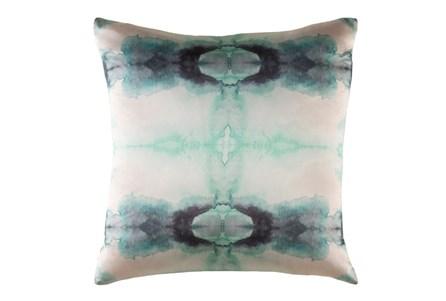 Accent Pillow-Kelsey Watercolor Aqua 22X22